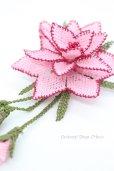 画像3: シルクイーネオヤブローチ|つぼみ付き星花|ライトピンク (3)