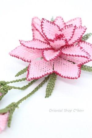 画像3: シルクイーネオヤブローチ|つぼみ付き星花|ライトピンク
