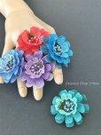 画像3: 日本発送◆大きな立体のお花リング|トゥーオヤ・イーネオヤ|アクアブルー (3)