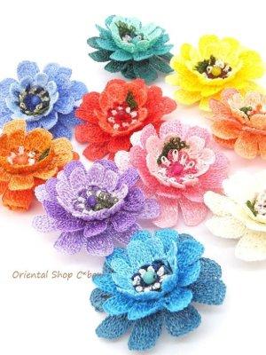 画像4: 日本発送◆大きな立体のお花リング|トゥーオヤ・イーネオヤ|サーモンピンク系