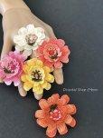 画像3: 日本発送◆大きな立体のお花リング|トゥーオヤ・イーネオヤ|サーモンピンク系 (3)