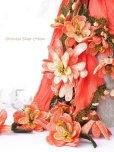 画像4: 一点物・豪華絢爛★作り込まれたお花★アシンメトリースカーフ|コーラルピンク