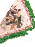 画像3: イズミール|木版アンティークオヤスカーフ|シルク糸イーネオヤ|ピンクグリーン