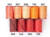MUZ撚り済み:人工シルク糸|6本撚り糸|オレンジ・レッド系