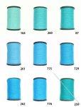 画像1: MUZ撚り済み:人工シルク糸|3本撚り糸|15 (1)