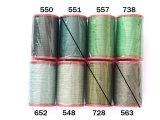 MUZ撚り済み:人工シルク糸|6本撚り糸|グリーン系・2