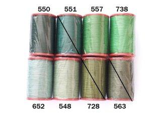 画像1: MUZ撚り済み:人工シルク糸 6本撚り糸 グリーン系・2