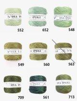 Diktas|人工シルク糸:グリーン系・3