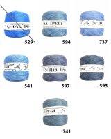 Diktas|人工シルク糸:ブルー・ブルーグレー系