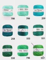 Diktas|人工シルク糸:グリーン系・1