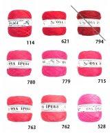 Diktas|人工シルク糸:レッド・ピンク系