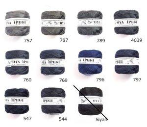 画像1: Diktas|人工シルク糸:濃グレー・濃紺系