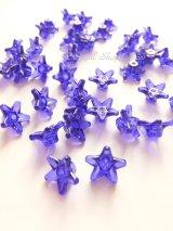 お花ビーズ|アクリル|ブルー