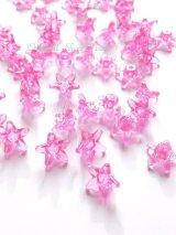 お花ビーズ|アクリル|ピンク