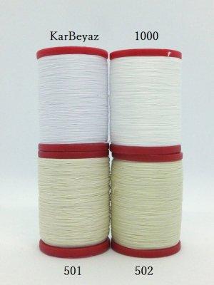 画像1: MUZ撚り済み:OYALI人工シルク糸|4本撚り糸|ホワイト系