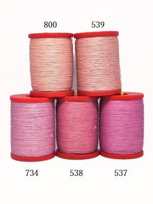 画像2: MUZ撚り済み:OYALI人工シルク糸|4本撚り糸|734