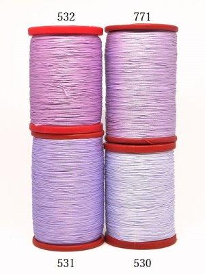 画像2: MUZ撚り済み:OYALI人工シルク糸|4本撚り糸|530
