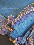 画像10: アイドゥン|アンティークオヤスカーフ|シルク糸|アンティークブルー