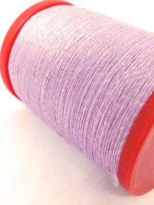 画像1: MUZ撚り済み:OYALI人工シルク糸|4本撚りラメ|532×シルバー