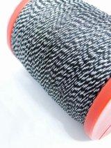 MUZ撚り済み:OYALI人工シルク糸|4本撚りラメ|ブラック×シルバー