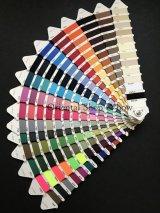 MUZ撚り済み:OYALI人工シルク糸|色見本帳