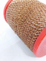 MUZ撚り済み:OYALI人工シルク糸|4本撚りラメ|707×シルバー