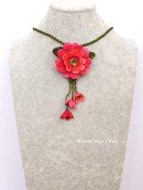 トゥーオヤ☆四重トーンのお花☆ブローチ・ネックレス兼用|ピンク系