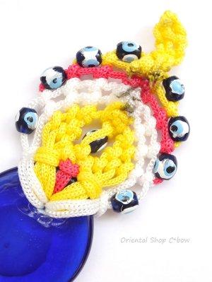 画像4: ナザルボンジュウ★カラフル編み紐オーナメント|10.5cm|A