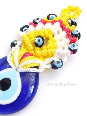 画像3: ナザルボンジュウ★カラフル編み紐オーナメント|10.5cm|A