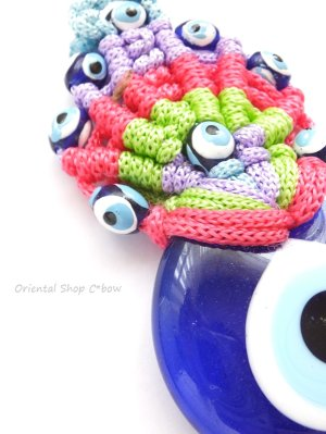 画像2: ナザルボンジュウ★カラフル編み紐オーナメント|8.5cm|E