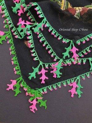画像2: ナウルハン|アンティークイーネオヤスカーフ|木版・シルク糸|メシェヤプラーウ(カシの葉)
