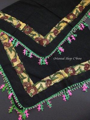 画像3: ナウルハン|アンティークイーネオヤスカーフ|木版・シルク糸|メシェヤプラーウ(カシの葉)