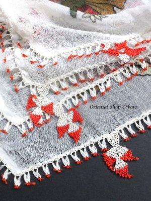 画像2: ナウルハン アンティークイーネオヤスカーフ シルク糸 ゲリンパルマーウ(花嫁の指)