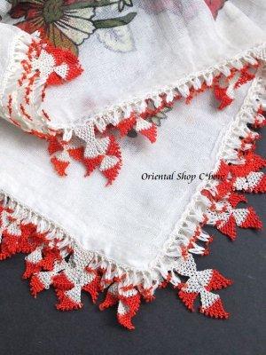 画像1: ナウルハン アンティークイーネオヤスカーフ シルク糸 ゲリンパルマーウ(花嫁の指)