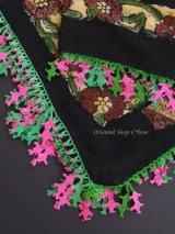 ナウルハン|アンティークイーネオヤスカーフ|木版・シルク糸|メシェヤプラーウ(カシの葉)