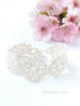 ボンジュックオヤブレスレット|結晶の花|オフホワイト