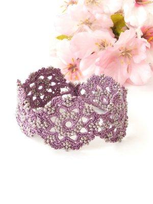 画像4: ボンジュックオヤブレスレット|結晶の花|アンティークモーヴ