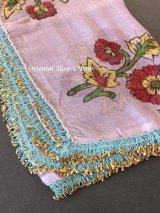 珍しい|ブルサ|木版アンティークオヤスカーフ・シルク糸|フィルケテオヤ|種