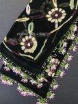 画像1: 珍:ブルサ|木版非常に珍しい|アンティークオヤスカーフ・シルク糸 (1)