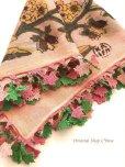 画像6: イズミール・ヴィンテージ 木版アンティークオヤスカーフ シルク糸イーネオヤ ピンク×ピンクグリーン