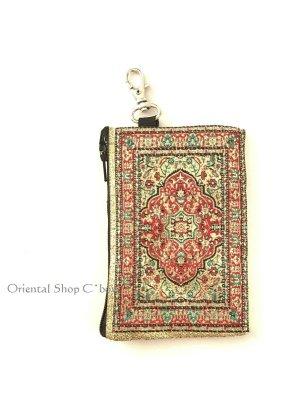 画像1: トルコのポーチ・キーケース|ミニ|トルコ絨毯柄|D