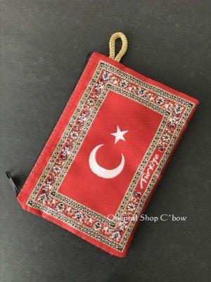 画像2: トルコのポーチ|トルコ国旗デザイン|赤