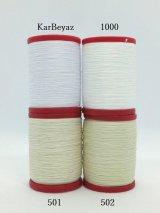 MUZ撚り済み:OYALI人工シルク糸|9本撚り糸|KayBeyaz/1000 白