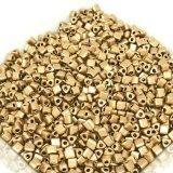 三角ビーズ|チェコ|ゴールドメッキ|2.5mm|10g