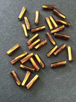 画像2: ツイスト竹ビーズ|ブラウン・シルバーライン|7mm|10g