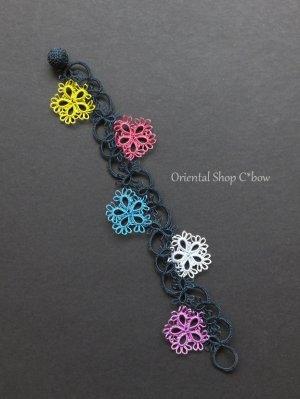 画像3: メキッキオヤブレスレット|花|カラフル|濃紺