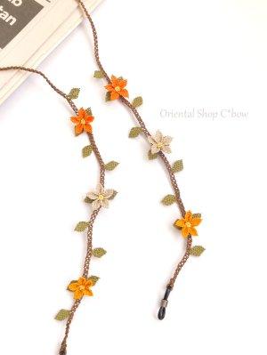 画像1: シルクイーネオヤ:グラスコード|とんがり花|オレンジ系ベージュ|ココア(コード)