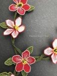 画像6: シルクイーネオヤネックレス 花ネックレス レッド系