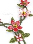 画像7: シルクイーネオヤネックレス 花ネックレス レッド系