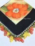 画像4: バルッケシル:大判トゥーオヤスカーフ|ブラック・コーラルイエロー薔薇